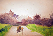 Andre MEHU - Cyclists at Saint...