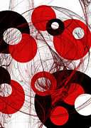 Geometric Abstraction Mixed Media - Cyclone Circle Abstract by Andee Photography