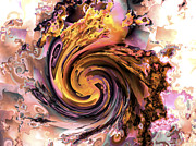 Generative Prints - Cyclone of color Print by Claude McCoy