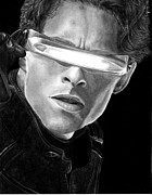 Superheroes Drawings - Cyclops by Kevin Contreras