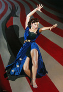 Patriotism Painting Originals - Cyd Charisse - Aunt Sam by Jo King