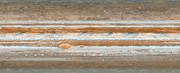 Panoramic Photographs Framed Prints - Cylindrical projection of Jupiter s surface  Framed Print by Anonymous