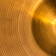 Drums Photo Posters - Cymbal Abstract Poster by Wim Lanclus