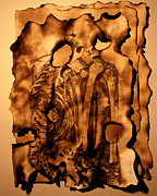 Anatomical Mixed Media Prints - CYPHERS and FLAMES LOST PAGES Print by Mariano Baino