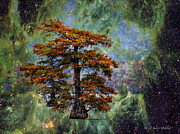 Cypress Trees Digital Art Posters - Cypress In All Its Glory Poster by J Larry Walker