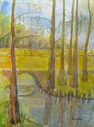 Florida Bridge Originals - Cypress Trees and moss by K coralee Burch