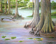Rawlings Paintings - Cyprus of Florida by Virginia Selley