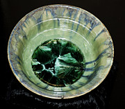Background Ceramics - Cyrstalline Glaze Bowl by Neeltje Vos