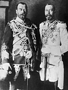 Uniforms Prints - Czar Nicholas And King George V Print by Underwood Archives