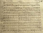 Mozart Prints - Czech Republic Prague Symphony No. 38 in D major called Prague symphony Print by Wolfgang Amadeus Mozart