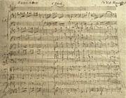 Czech Republic Prague Symphony No. 38 In D Major Called Prague Symphony Print by Wolfgang Amadeus Mozart