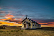 Montana Photos - D Aste Church near Charlo Montana by Mark Mesenko