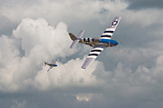 Fighter Aircraft Prints - D-Day Mustangs Print by Pat Speirs