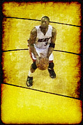 Miami Heat Posters - D Wade Poster by Joe Myeress
