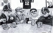 Steelers Drawings - Da Steelers by Jonathan Tooley