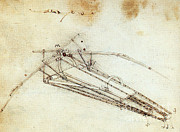 Da Vinci Flying Machine 1485 Print by Science Source