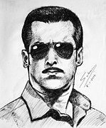 Police Art Paintings - Dabanng by Salman Ravish
