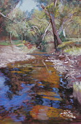 Water Pastels - Dabyminga Creek - Tallarook by Lynda Robinson