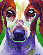 Alicia Vannoy Call Framed Prints - Dachshund - Cooper Framed Print by Alicia VanNoy Call