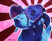 Alicia Vannoy Call Prints - Dachshund - Puppy Love Print by Alicia VanNoy Call