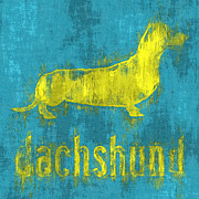 Dachshund Digital Art Posters - Dachshund Poster by Anthony Ross