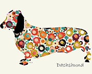 Dachshund Dog  Print by Brian Buckley