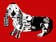 Dog Art Art - Dachshund Graffiti by Brian Buckley