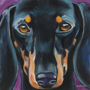 Dachshund Paintings - Dachshund by Melissa Smith