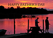 Randall Branham Art - Dad Happy Fathers Day  lets go fishing  by Randall Branham