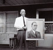 Anne-Elizabeth Whiteway - Dad Holding Self Portrait in July 1962
