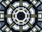 Traditional Quilts Tapestries - Textiles Metal Prints - Daddys Denims Quilt Metal Print by Barbara Griffin