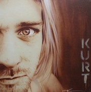 Kurt Cobain Metal Prints - Daddys Little Girl Aint a Girl No More Metal Print by Christian Chapman Art