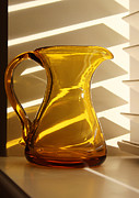 Dad's Amber Pitcher By Blenko Glass Print by Karen Adams