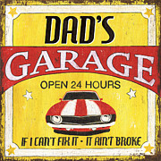 Dad's Garage Print by Debbie DeWitt