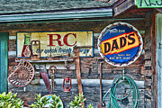 Old Cabins Prints - Dads Print by Kenny Francis