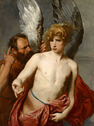Famous Artists - Daedalus and Icarus by Anthony van Dyck