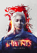 Game Digital Art Framed Prints - Daenerys - Game of thrones  Framed Print by Farhad Tamim
