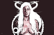 Game Of Thrones Framed Prints - Daenerys Framed Print by Jeremy Scott