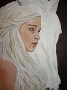 Game Painting Prints - Daenerys Print by Tammy Rekito