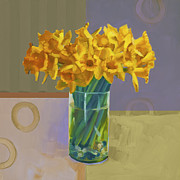 Ornamental Paintings - Daffodil Blue by Cathy Locke