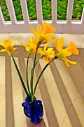 Yearly Prints - Daffodil Boquet Print by Chris Berry
