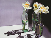 Floral Still Life Originals - Daffodil Study by Denny Bond
