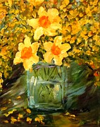 Barbara Pirkle - Daffodils and Forsythia