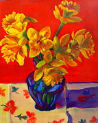 Ruth Sievers - Daffodils in Blue Vase