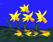 Randy Kaufman - Daffodils On A Lake