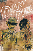 Signed Poster Art - Daft Punk  by Jackson