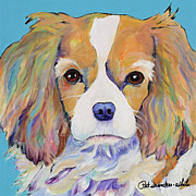Pat Saunders-white Dog Paintings - Dagney by Pat Saunders-White