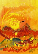 Wildfire Paintings - DAgony by Holly Carmichael