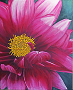 Oil Paintings - Dahlia by Sid Ball