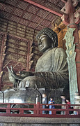 Kansai Photo Framed Prints - DAIBUTSU BUDDHA of TODAI-JI TEMPLE Framed Print by Daniel Hagerman